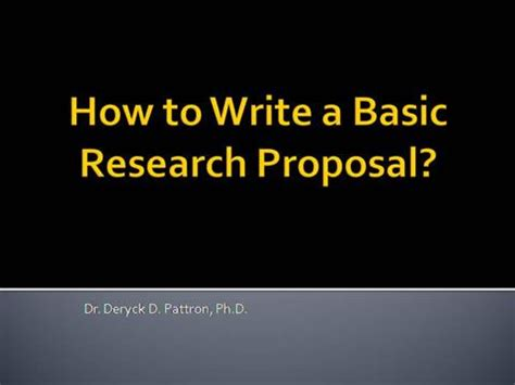 Child support research proposals